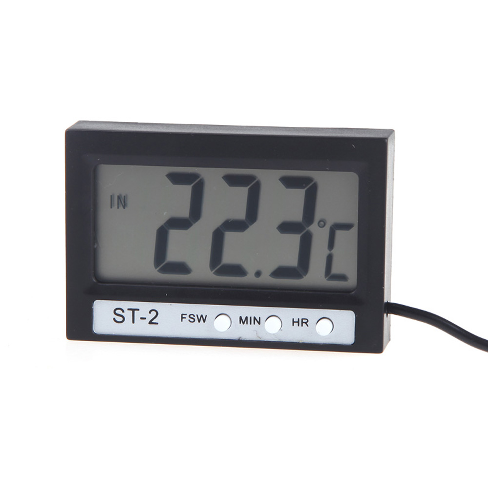 Car In Out Lcd Dual Way Digital Thermometer Measuring Temperature Led For Measurement By Two Sensors Used Widely Such As Air Condition Icebox Icehouse And House