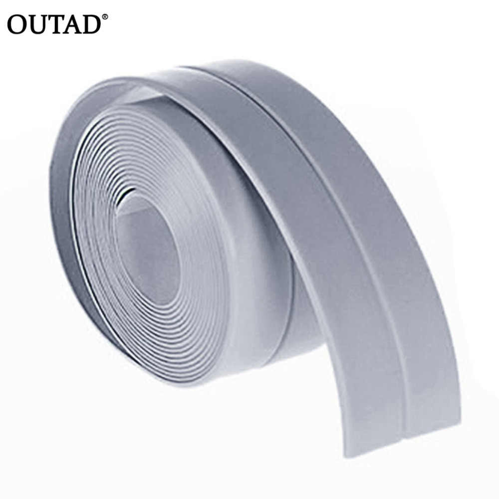 OUTAD 38mm*3.2m DIY Self adhesive Waterproof White Mildewproof Sealing Sealant Strip Tape for Bathroom Kitchen