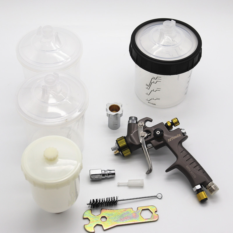 1 2mm spray gun paint spray gun mini spray gun Gravity Feed Paint 250ml cup mini