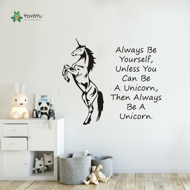 unicorn horse wall art sticker always be yourself unless you can be