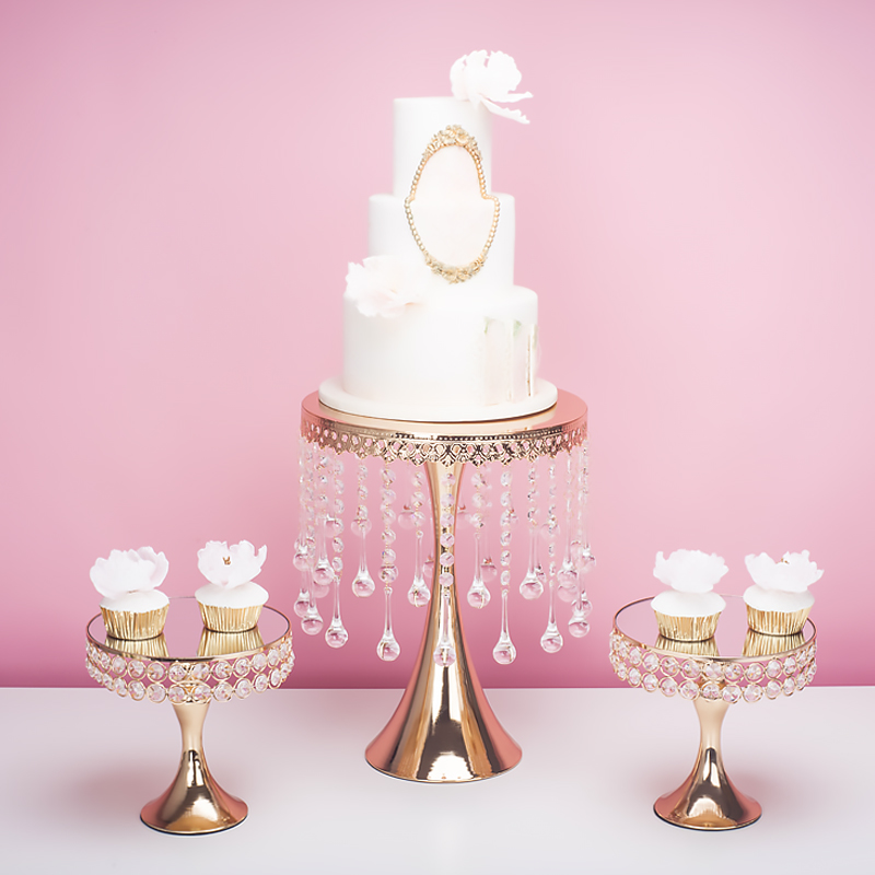 Event & Party Gold Luxury Crystal Wedding Tall Big Cake Centerpieces Display Stand Holder Fondant Macaron Cupcake Cake Decorating For Dessert Cake Decorating Supplies