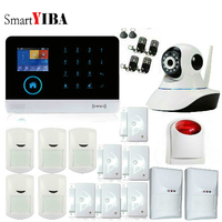 SmartYIBA Wireless Wifi GSM RFID SMS Home Office Security Burglar Intruder Alarm IP Camera Pet Friendly