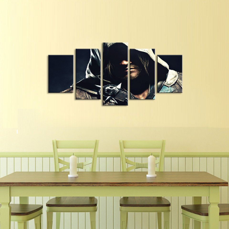 5 pieces high definition print Mystery man canvas painting poster ...