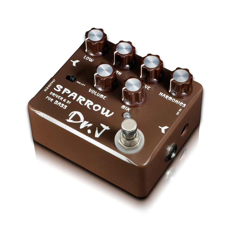 Dr.J D53 Sparrow Driver DI Effect Guitar Electric Bass Overdrive Pedal efeito True Bypass free shipping hotone grass classic tube overdrive effect pedal electric guitar bass true bypass top grade fancier choice
