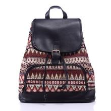 Новинка 2017 Рюкзак Женская мода с геометрическим принтом дорожные сумки drawstring Обложка сумка школьная сумка для подростков Mochila