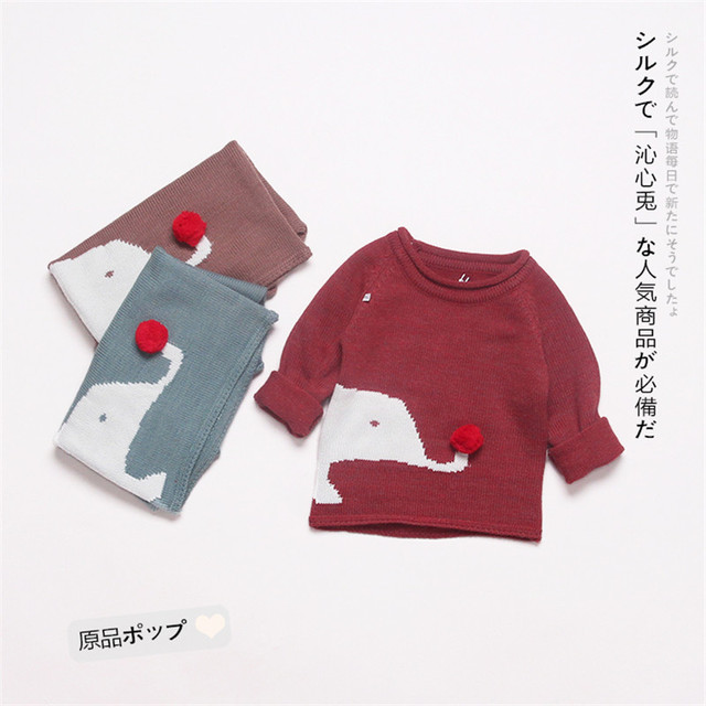 c8893ced80aa New Baby Fashion Winter Autumn Infant Knitted Sweater Boys Girls ...