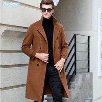 Кардиган с длинным рукавом для мужчин бренд свитер 2018 Осень Зима Повседневное шерсть свитеры для женщин длинные тянуть Homme Ман Высокое