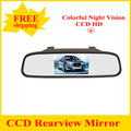 Factory Promotion NEW 4.3 inch RearView Monitor Car Mirror Rear View For CCD camera cam Free Shipping