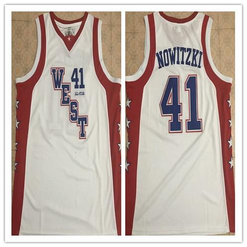 #41 Dirk Nowitzki 2004 All Star West haute qualité basket-ball Jersey broderie cousu personnaliser n'importe quel nom et numéro