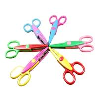 Best Sale 6 PCS Laciness Scissors Metal Plastic DIY Scrapbooking Photo Colors Scissors Paper Lace Diary Decoration 6 Patterns