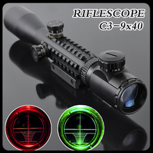 Cheap price C3-9X40EG LLL Night Vision Scopes Air Rifle Gun Riflescope Outdoor Hunting Telescope Sight High Reflex SNIPER Scope Gunsight