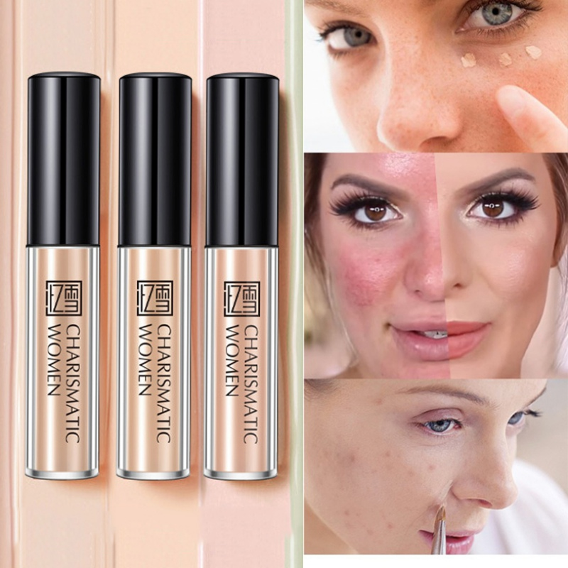 Light Concealer Moisturizing Cover Facial Blemishes Brighten Skin Color Silky Concealer Cream