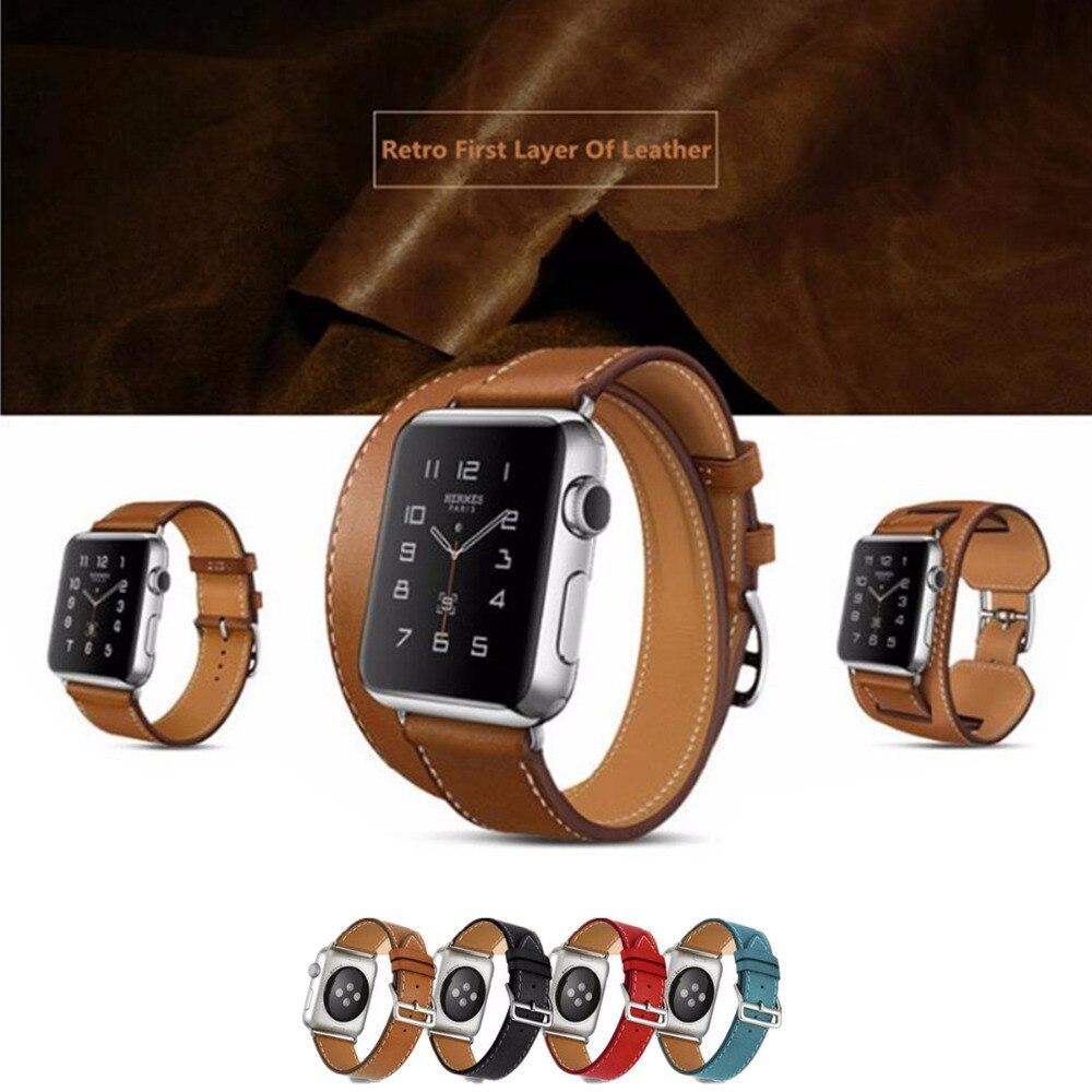 LNOP Véritable montre En Cuir de courroie de bande pour hermes apple montre 42mm/38mm bracelet fermoir boucle bracelet en cuir pour iwatch 3/2/1