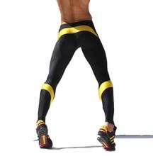 Hombres Gym Pantalones atléticos Para Hombre Corriendo Pantalones Pantalones de Yoga Pantalones Largos Elásticos flaco Legging Medias Deportivas AQUX Hombres Trainning