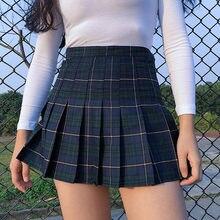 Tutu Hot Sale Cotton Lanon Plaid A-line None Empire Skirt 2018 Summer New  American Retro High Waist Lattice Skirt Female b562ce85c68d