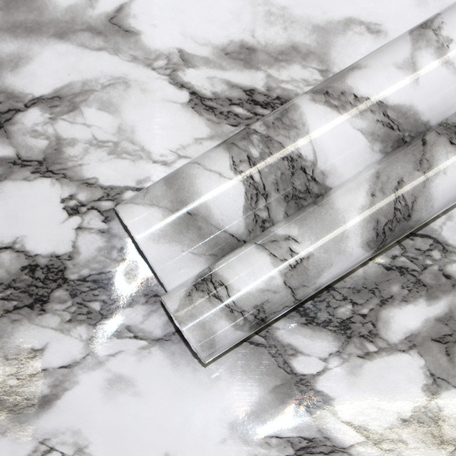 Haokhome 3d White Black Marble Peel And Stick Wallpaper Contact