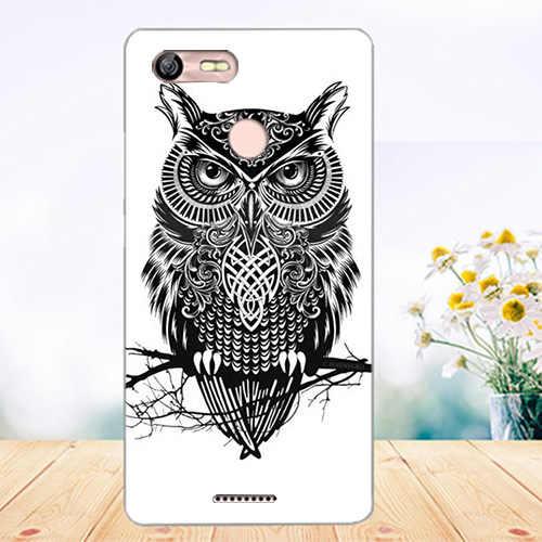 Lembut Tpu Telepon Kasus Untuk BQ BQ-5204 Mogok Selfie Penutup Silikon Painted Tiger Owl Rose Menara Kasus Fundas Sheer Untuk BQ 5204