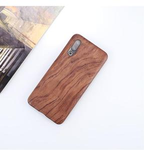Image 3 - For Meizu 16s /16XS walnut Enony Wood Rosewood MAHOGANY Wooden Slim Back Case Cover