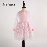 It S Yiiya Long Sleeves Flower Girl Dresses Normal Party Girls Dress Zipper Princess Spring For