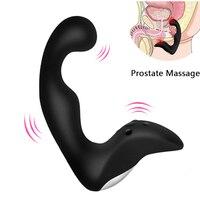 Gelugee Erkek Prostat Masaj Anal Vibratör Silikon 10 Hızları Butt Erkekler için Anal Oyuncaklar Erkek Masturbator için Seks Oyuncakları fiş yetişkin