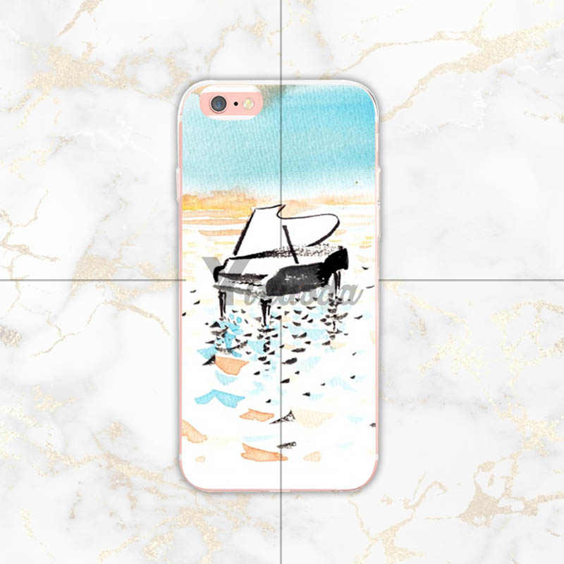 Yinuoda Piano Key Music Note Voor Iphone 7 7Plus Transparante Coque Cover Case Voor Iphone Xsmax X Xs Xr 7 7Plus 8 8 Plus 6 6 S 6 Plus
