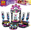 41105 Friends Pop Star Stage BELA Building Blocks Sets Livi Andrea DIY Bricks Toys Compatible with Lepine Friends For Girl