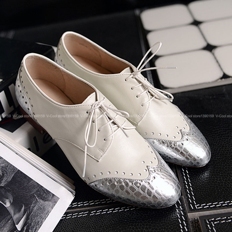 ФОТО European Fashion Women Natural Leather Oxford Shoes 2017 High Grade Oxfords Ladies Vintage Luxury Ankle Footwear Girls Famous