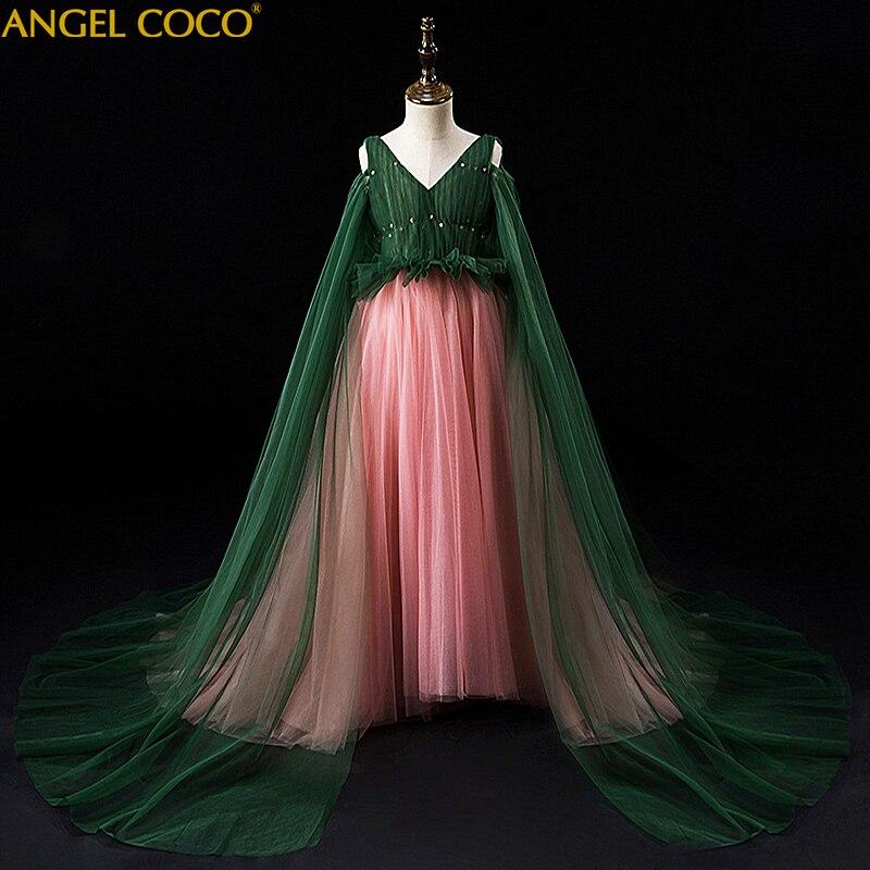 Filles Costume de Noce De Robe De Tulle Princesse D'anniversaire Robe De Noël Robe de Première Communion Robes Boutique Tenues