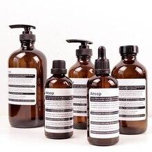 Стеклянная бутылка для хранения шампуня для ванной, жидкая, нордический лосьон, капельница, эмульсия, бутылка для хранения, органайзер для путешествий, Декор
