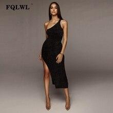 FQLWL Glitter Backless Summer Black Long Dress Women Sleeveless Split  Bodycon Maxi Dress Ladies Sexy Night eef286b67388
