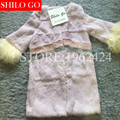 HOT Free shipping 2016 new winter fashion women high quality angora wool gradient fur coat trumpet sleeve coat long section &XXL