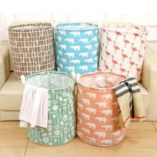 Cotton Clothes Toy Storage Basket Storage Box Sundries Waterproof Oversized  Dirty Eco Friendly Barrel Clothes Storage A20