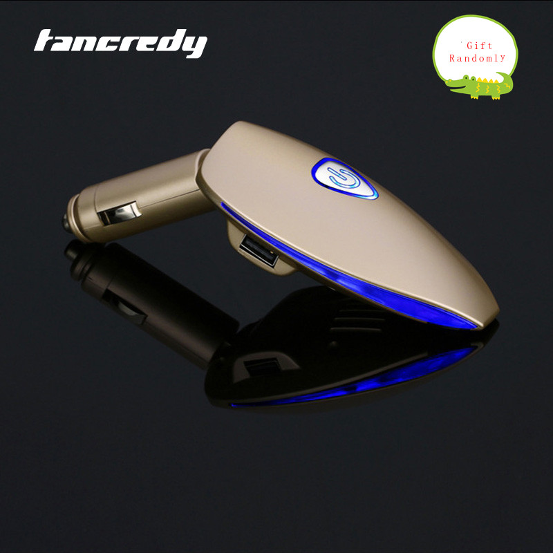 Tancredy Portable Car Auto Air Purifier Cleaner 12V Smoke anion purifier Fresh Car Air Ionizer Oxygen Bar Dual USB Car Charger