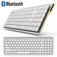 RK929 Rechargeable 96 Keys White LED Backlit Bluetooth Mechanical Keyboard Gamer Mini Ergonomic Metal For Phone PC Laptop Tablet