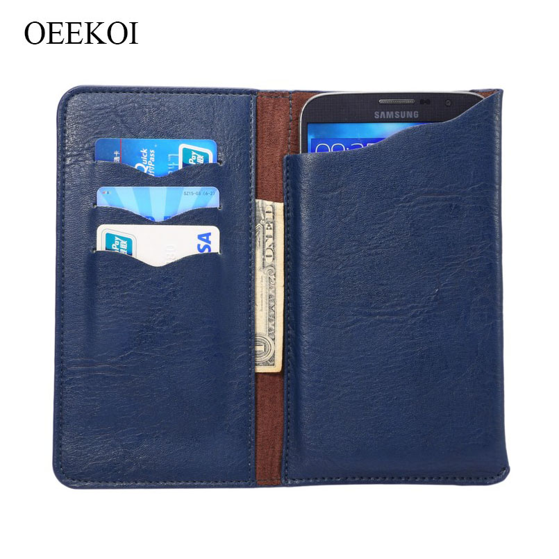 Phone Pouch Oeekoi Universal Elephant Pattern Leather Wallet Sleeve Pouch Case For Lava Iris Pro 20/pro 30 4.7 Inch A Complete Range Of Specifications Phone Bags & Cases