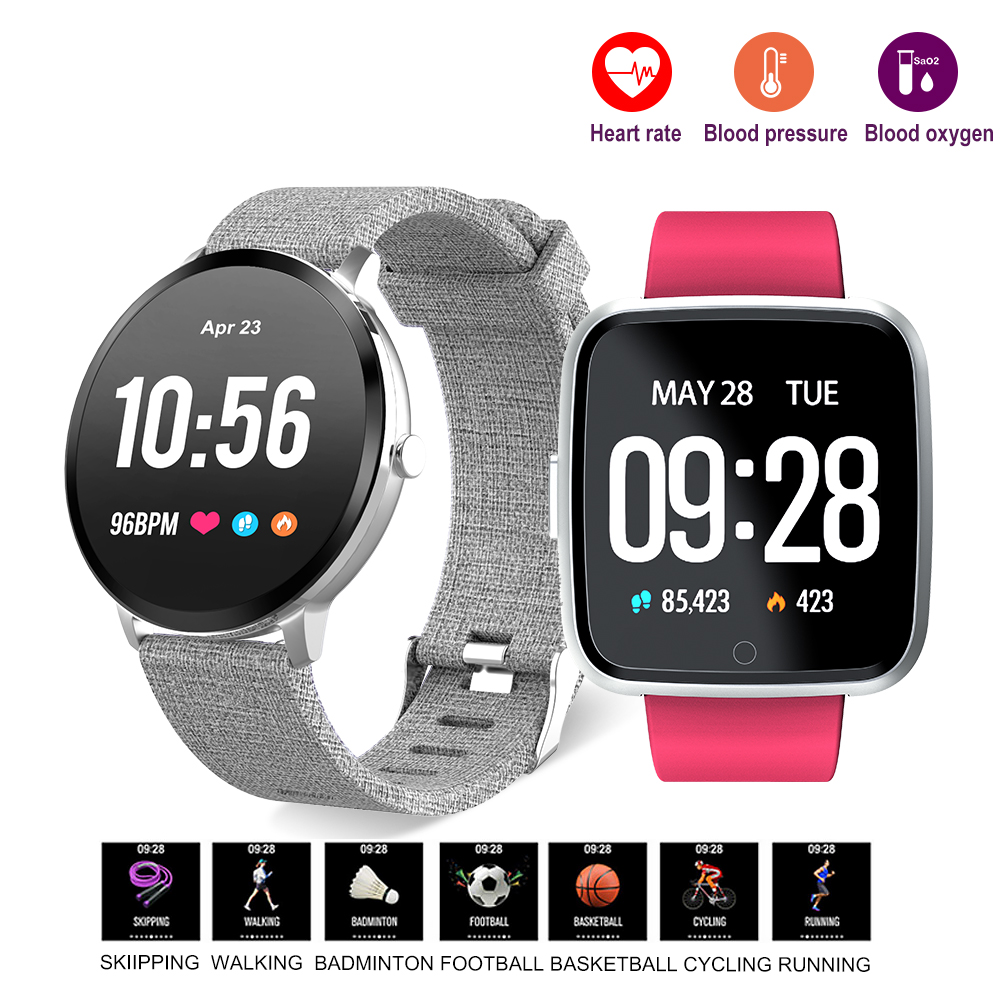 V11 Smart watch IP67 Waterproof Heart Rate Blood Pressure oxygen monitor Activity tracker Fitness Bracelet for Men women ogeda women smart watch blood pressure blood oxygen heart rate monitor smart fitness bracelet activity tracker support running