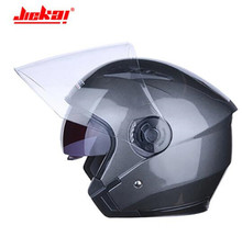 JIEKAI Motorcycle Helmet Open Face Capacete Para Motocicleta For Scooter Racing Moto Helmets With Dual Lens