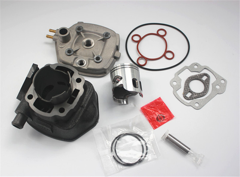 Motorcycle 70cc Cylinder Gasket Kit With 10mm Pin Piston Kit For Yamaha Aprilia Aerox Jog Sr 50 Water Cool Cylinder 47mm 10mm 70cc big bore cylinder barrel kit head for aprilia gulliver rally scarabeo sonic sr 50cc