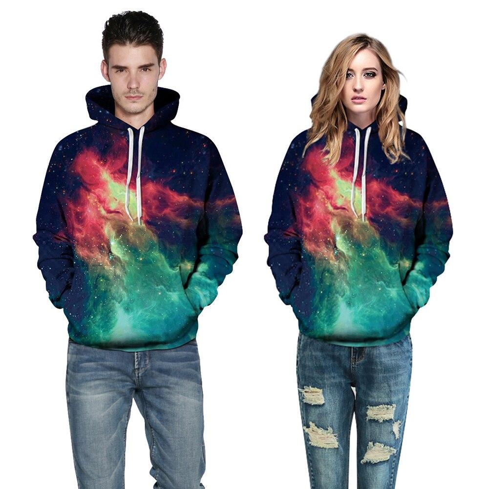 Fashion Men Women Sky Flame Hoodie Sweatshirt Casual Baseball Couple Pullover