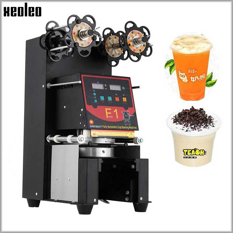 Xeoleo Full Automatic Cup sealing machine Bubble tea machine Cup sealer For 90/95/98mm PP/PET/Paper Cups 220V/110V Customizable 220v semi automatic bubble tea cup sealing machine cup sealer wy 168 page 7