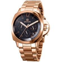 Reloj de Los Hombres Reloj Militar Del Relogio masculino Relojes de Moda Casual de Alta calidad Completa de Acero de Cuarzo Reloj de Pulsera 30 m Impermeable