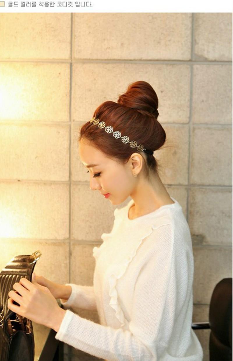 rose flower hair jewelry5