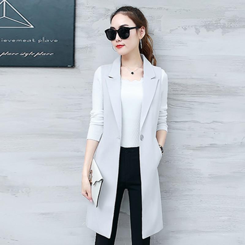 Maxi 3XL New Fashion Women Ladies Suit Coat Business Blazer Slim Outwears Office Lady's Long Blazers Women Clothing