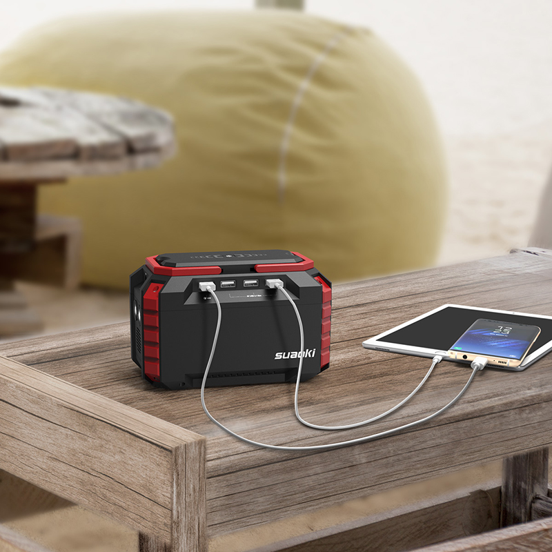 <font><b>Suaoki</b></font> <font><b>S270</b></font> Portable Smart Power Station 150WH Rechargeable Battery Emergency Power Supply Flashlight AC/DC/USB Phone Charging image