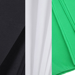 Image 3 - Green Screen Backdrops for Photography Studio Nonwoven Muslin Polyester cotton White Black Green Fond Photographie Background