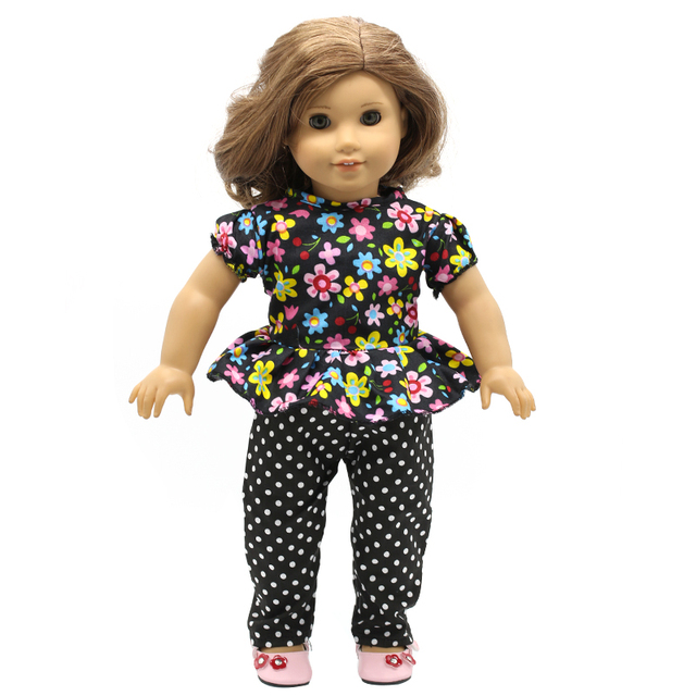 release date: 71653 8cf52 US $2.94 41% di SCONTO|Vestiti per le Bambole ragazza Floreale Pantaloni  Camicia Vestito e Abito Corto per il 16 18 pollice Bambole Best Bambole ...