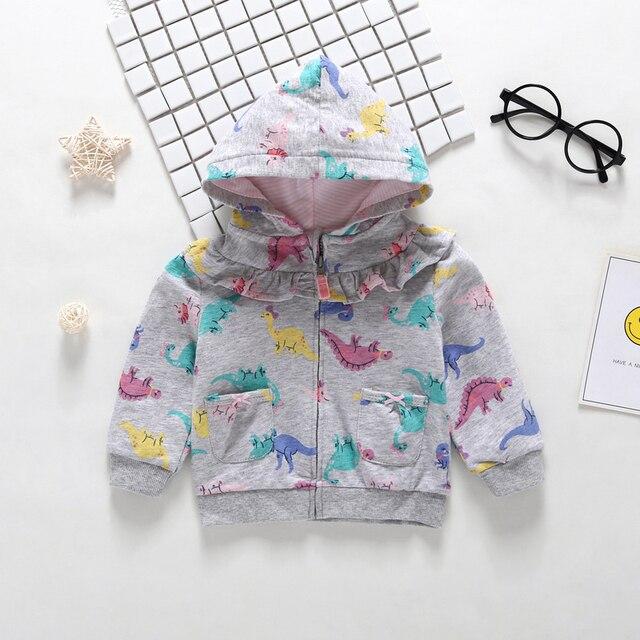2019 Rushed New  Menino Autumn Winter Warm Baby Clothes Girls Sleeve Hoodies Boy Sweatshirt With Zipper Dot Outfits 4