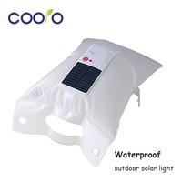 Waterproof Inflatable Solar Light Foldable Air Bag Camping Flashlight Lantern Solar Lantern For Camping Hiking Travelling