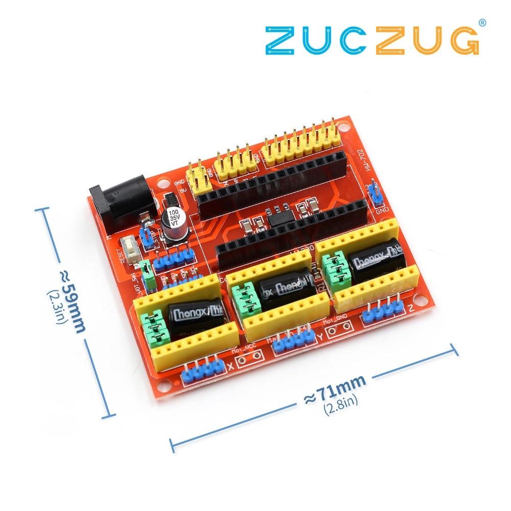 New Cnc Shield V3 Engraving Machine 3d Printer A4988 Driver Mega 2560 R3 Ramps 1 4 Impresora 5 Drivers Kit Para Arduino V4 Expansion Board For