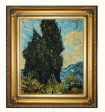 Two Cypresses by Vincent Van Gogh Handpainted